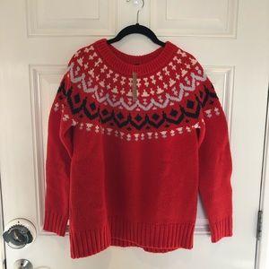 J Crew Fair Isle sweater sz M bnwt